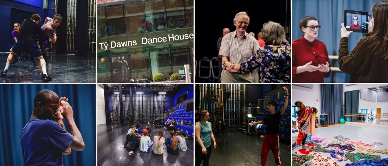 8 small images from across the Dance House